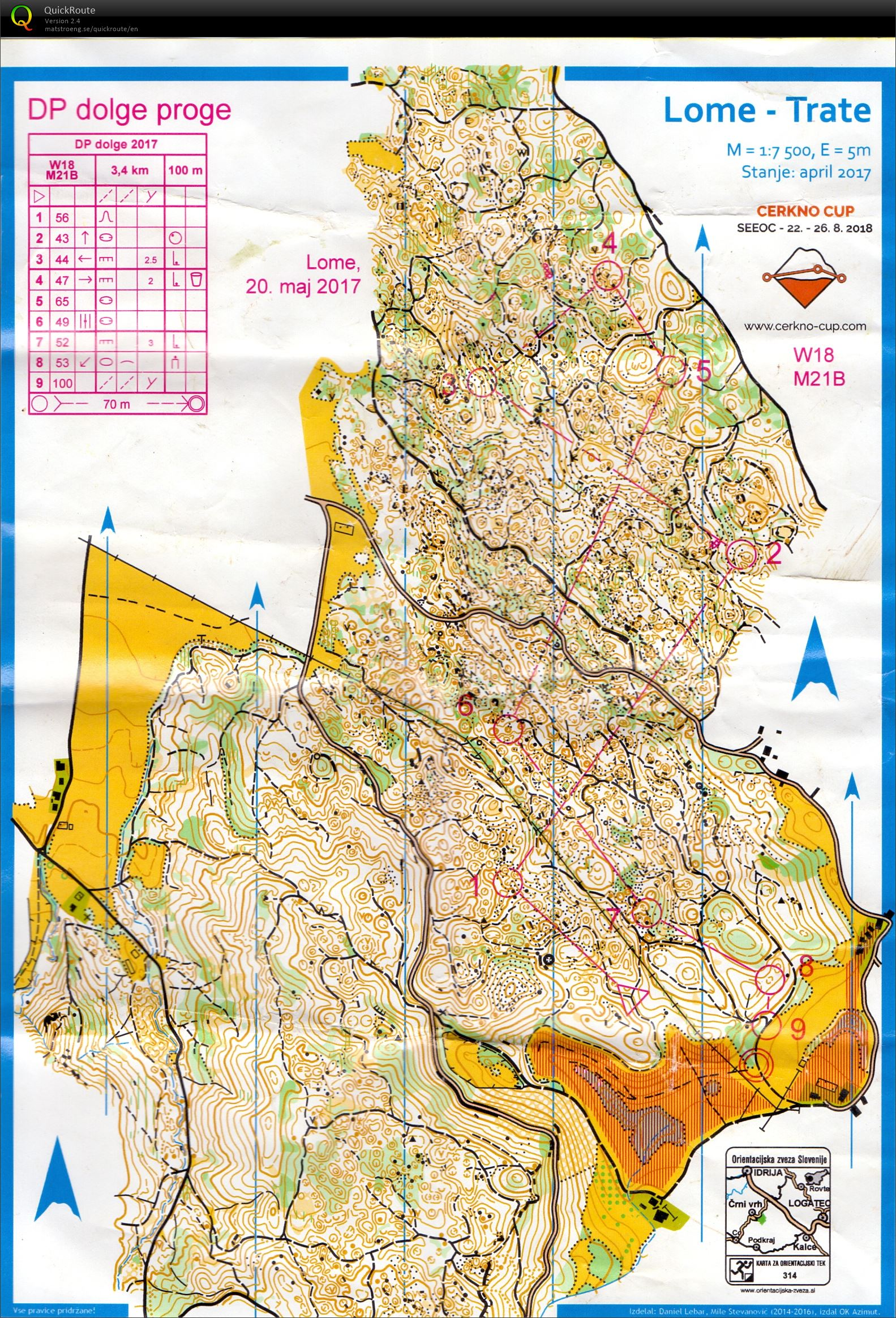 SOL 5 DP dolge May 20th 2017 Orienteering Map from Zala Zavrl