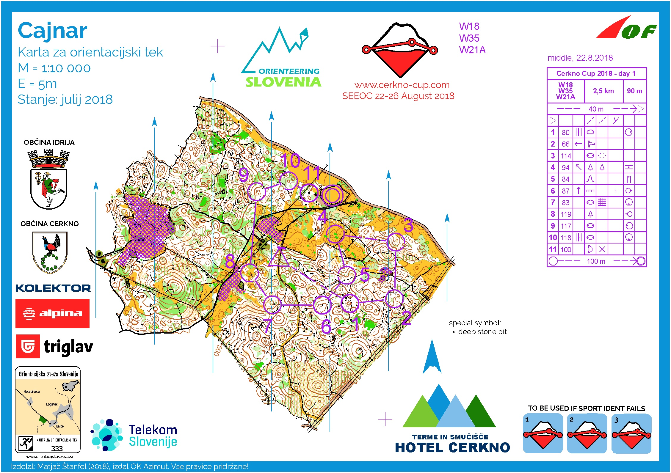Cerkno Cup - DAY 1 - M18, W35, W21A (22. 08. 2018)