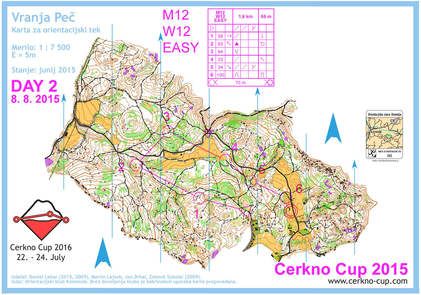 Cerkno Cup - 2015 - DAY 2 - M12, W12, OPEN EASY (08. 08. 2015)